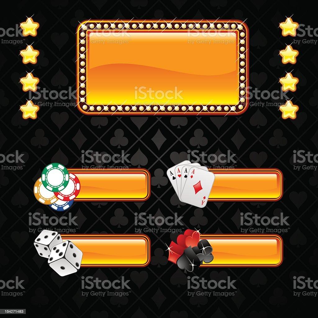 Gambling collection royalty-free stock vector art