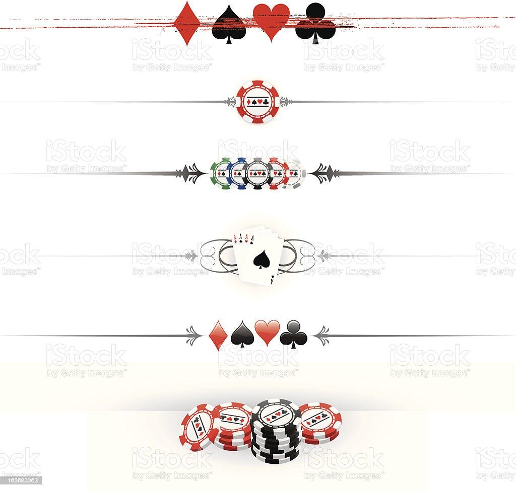 Gambling dividers vector art illustration