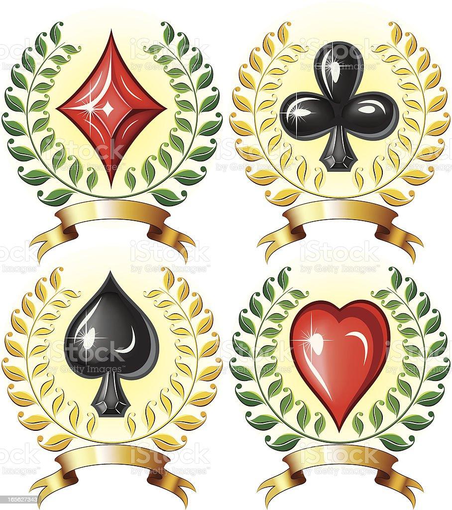 Gambling emblems royalty-free stock vector art