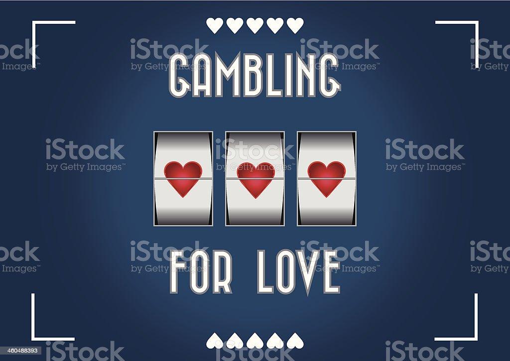 Gambling for love vector art illustration