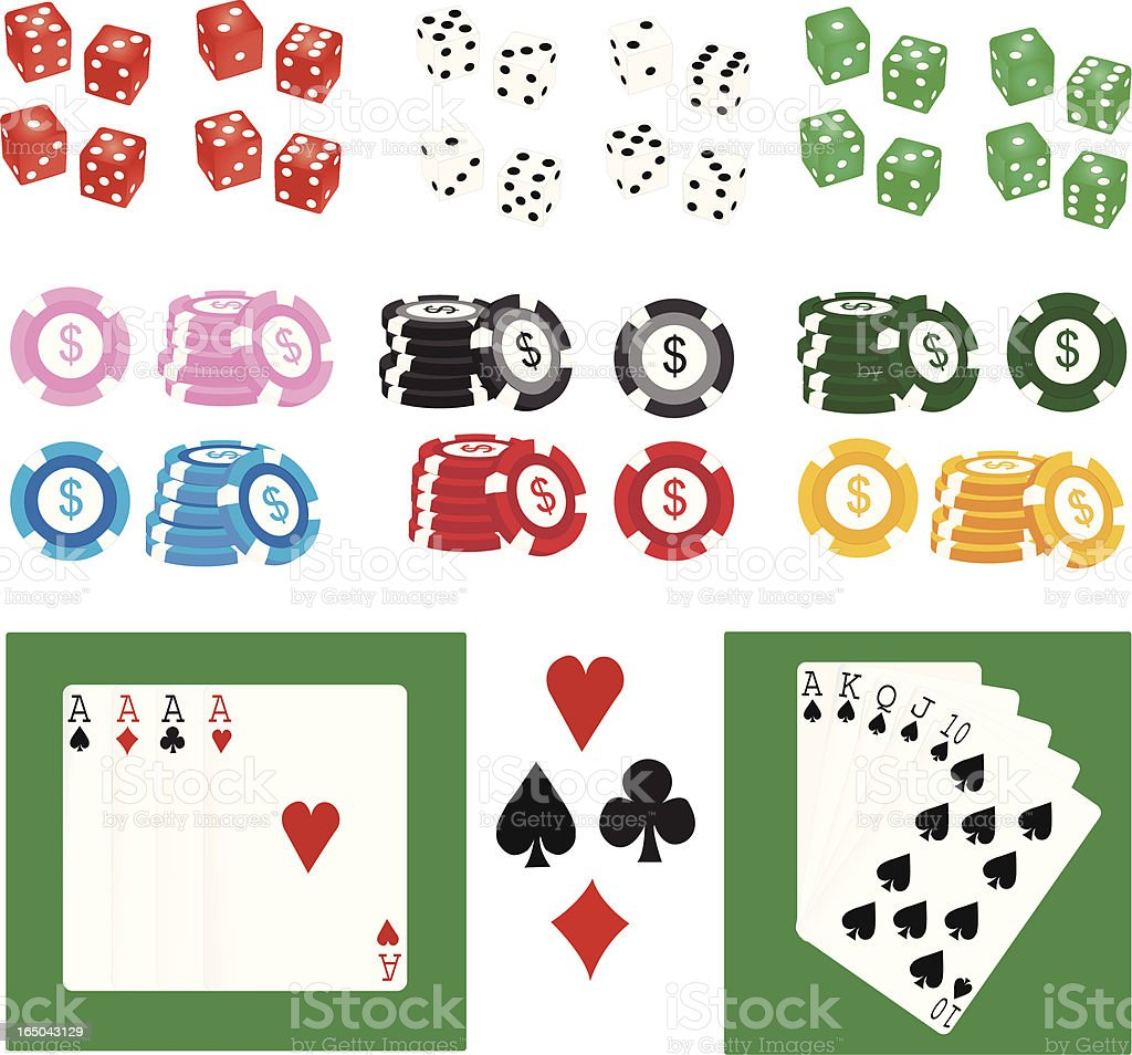 Gambling Goodies royalty-free stock vector art