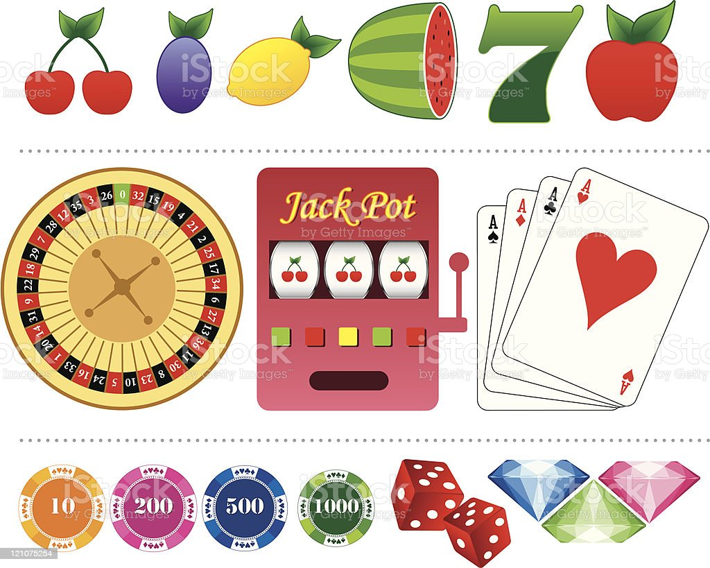 Gambling icons royalty-free stock vector art