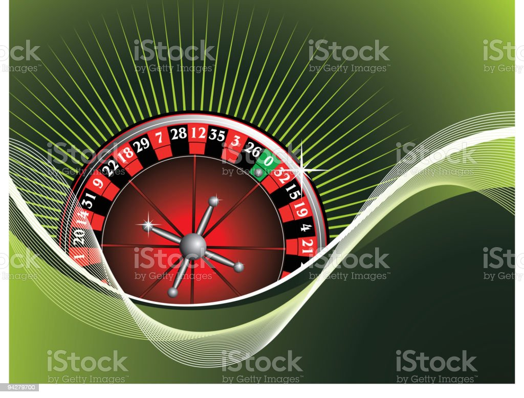gambling illustration with roulette royalty-free stock vector art