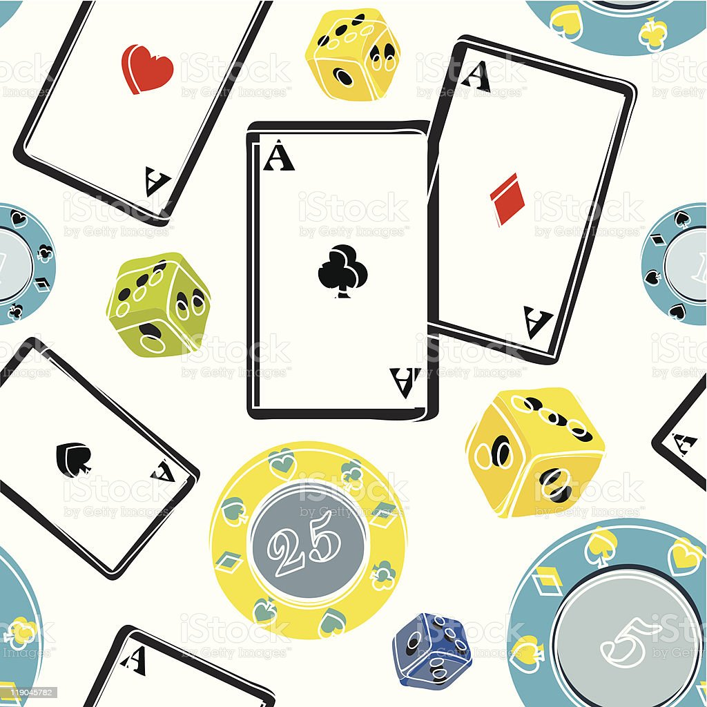 Gambling Pattern royalty-free stock vector art