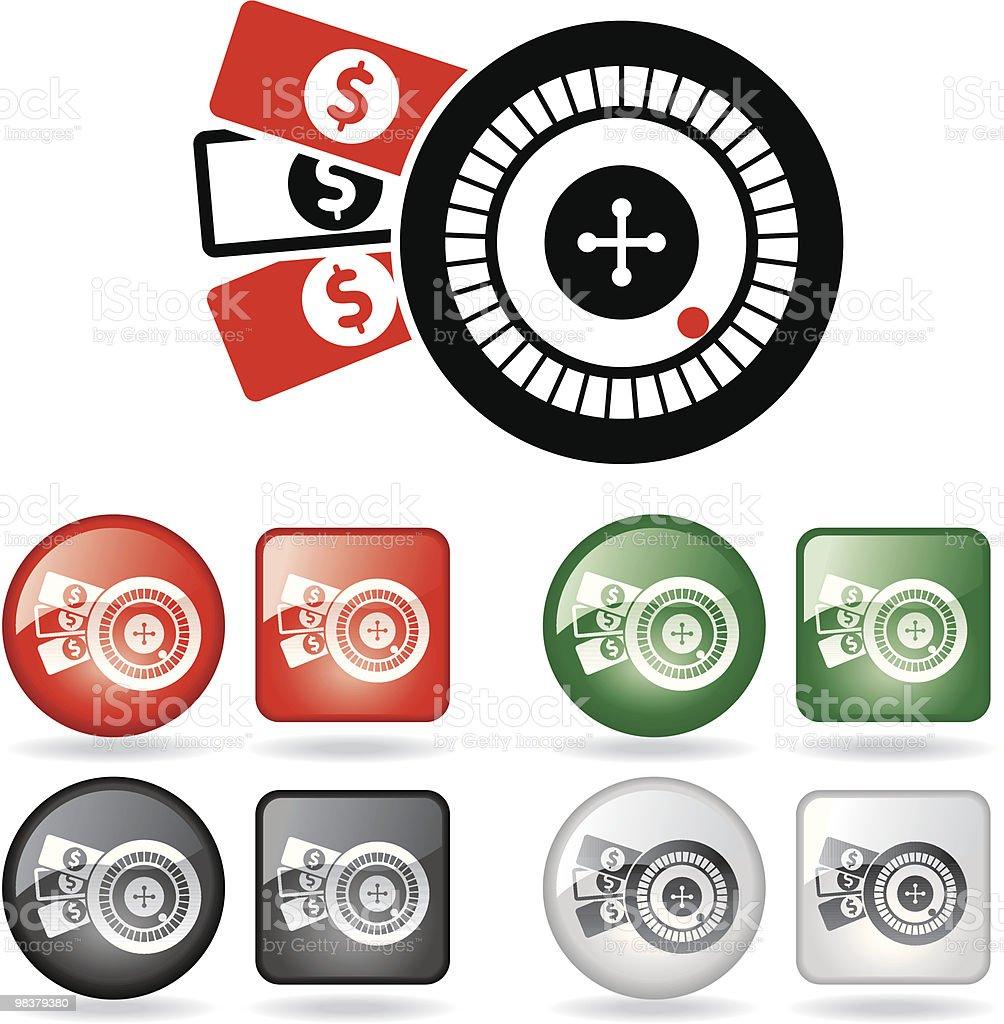 Gambling - Roulette royalty-free stock vector art