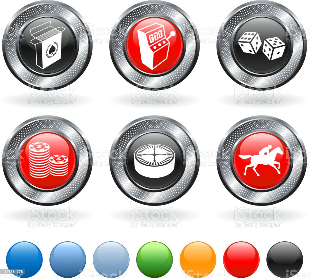 Gambling royalty free vector icon set vector art illustration