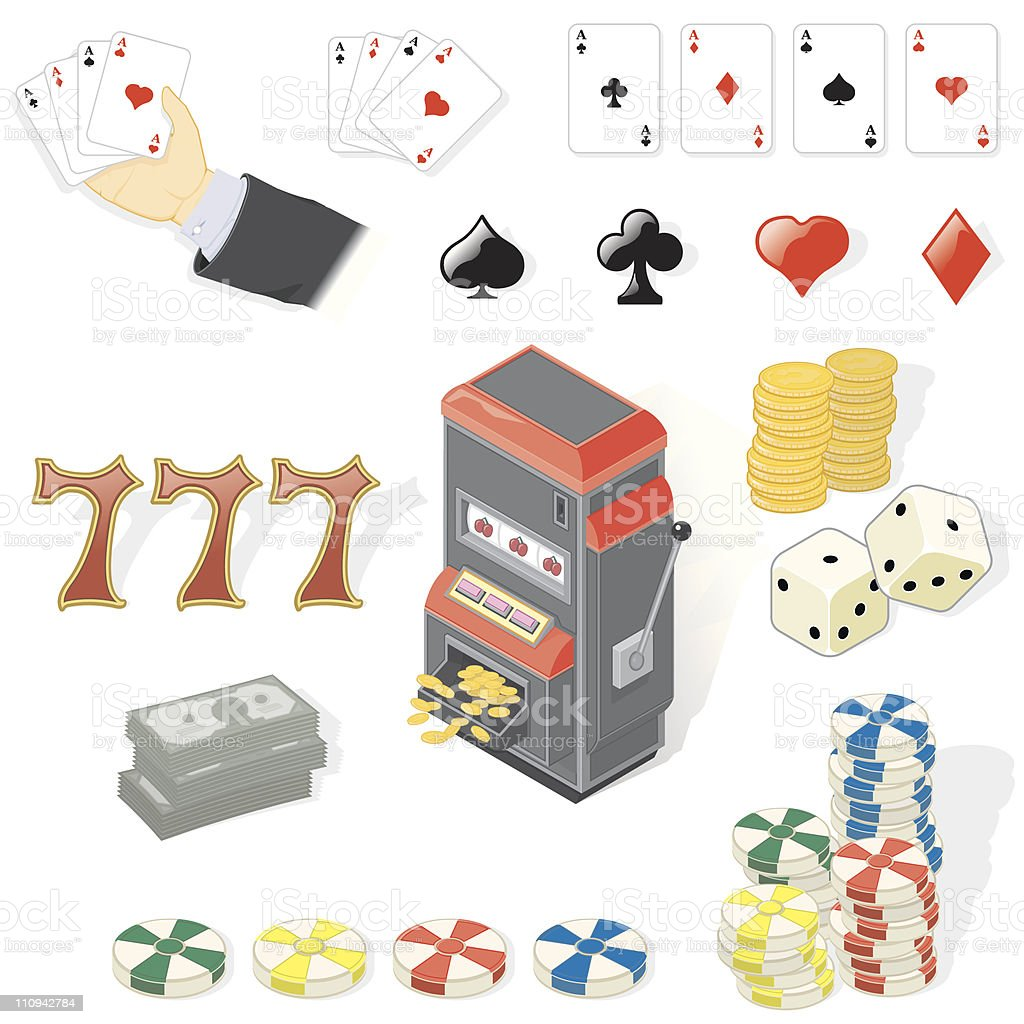 Gambling royalty-free stock vector art