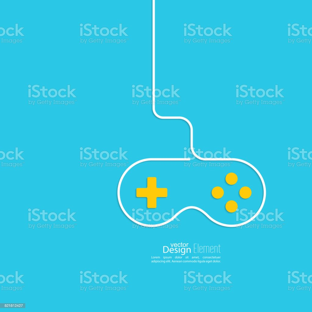 Game background wire and joystick. vector art illustration