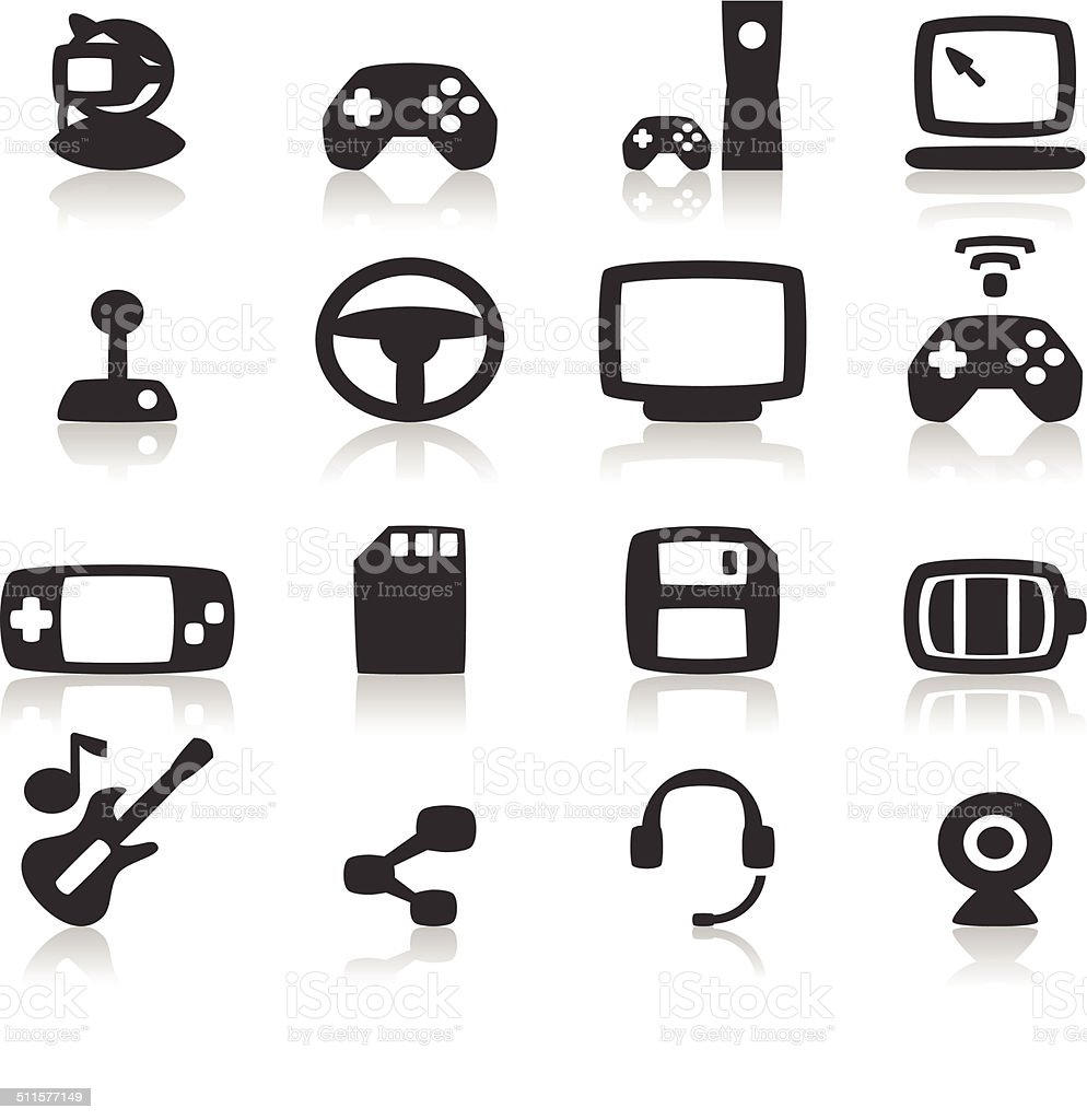 Game Console Icon vector art illustration