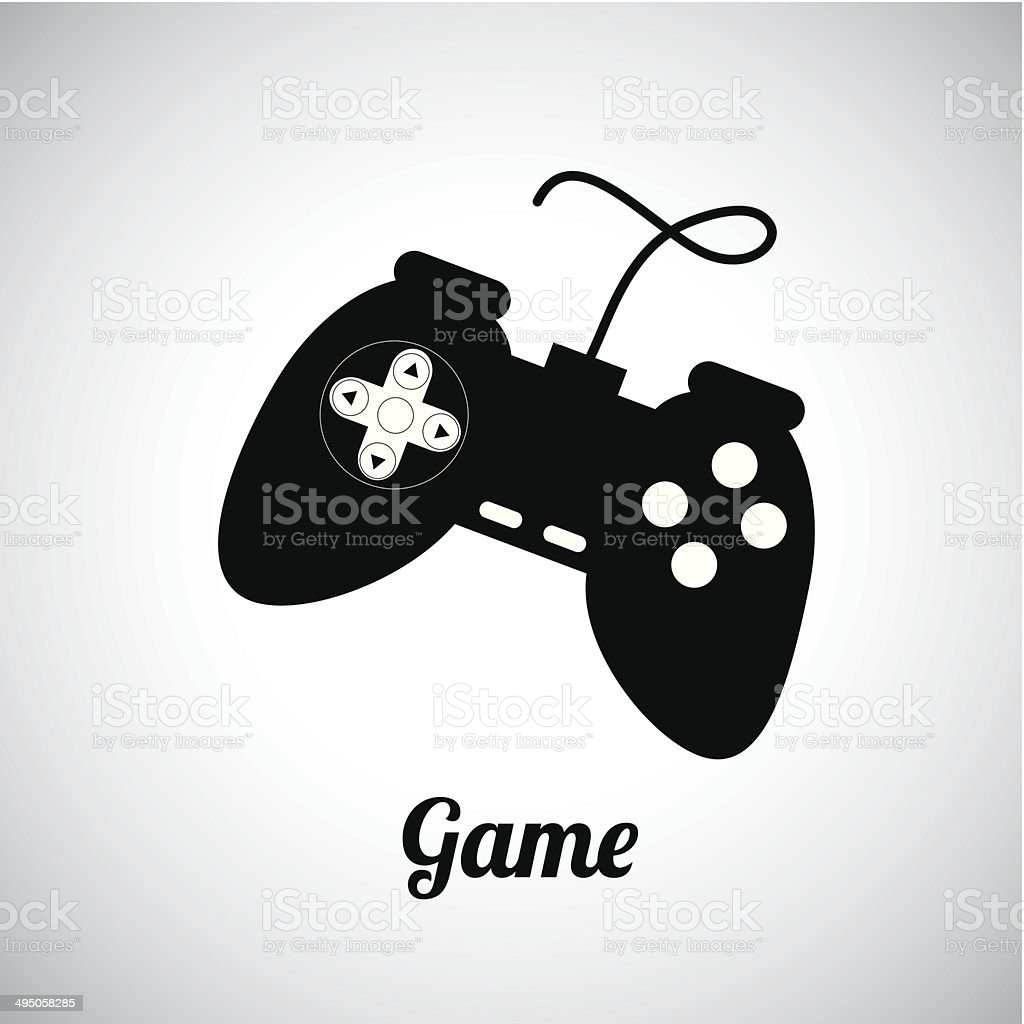 game control vector art illustration