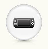 Game Controller icon on white round vector button