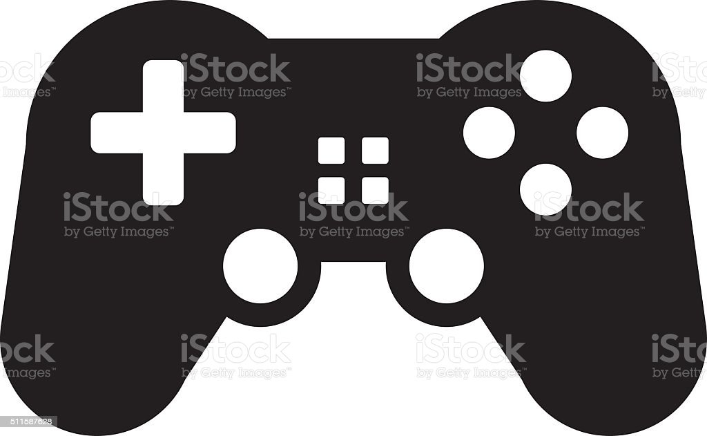Game controller icon vector art illustration