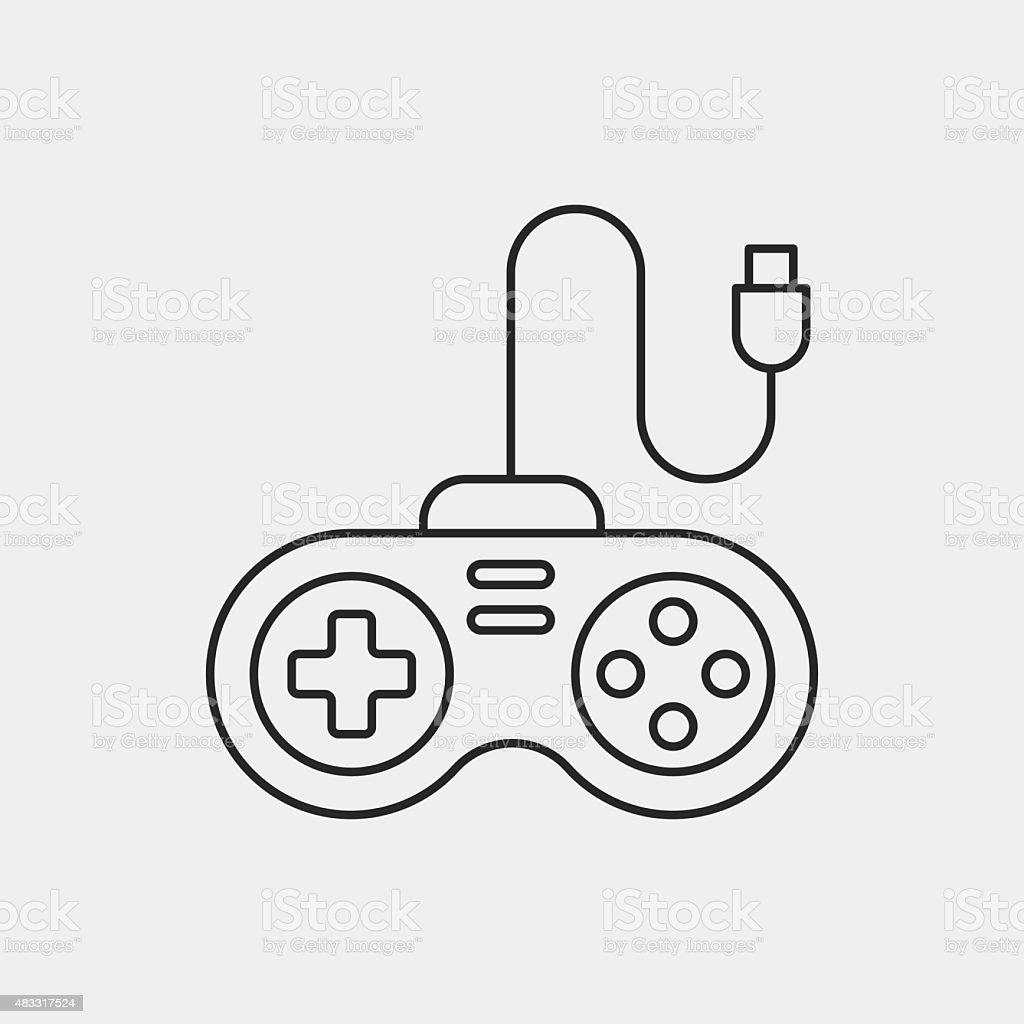 joystick line art  dibujo de controlador videojuegos para