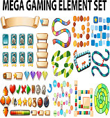 Game elements and template