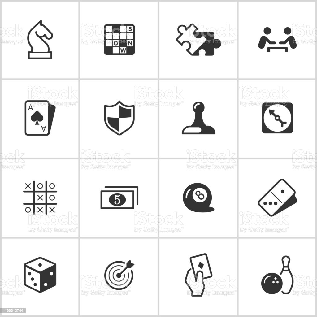 Game Icons — Inky Series vector art illustration
