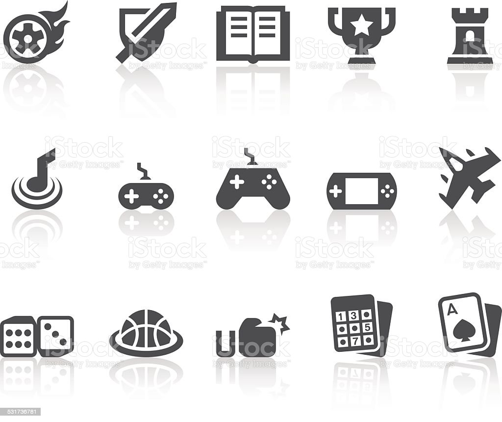 Game Icons | Simple Black Series vector art illustration