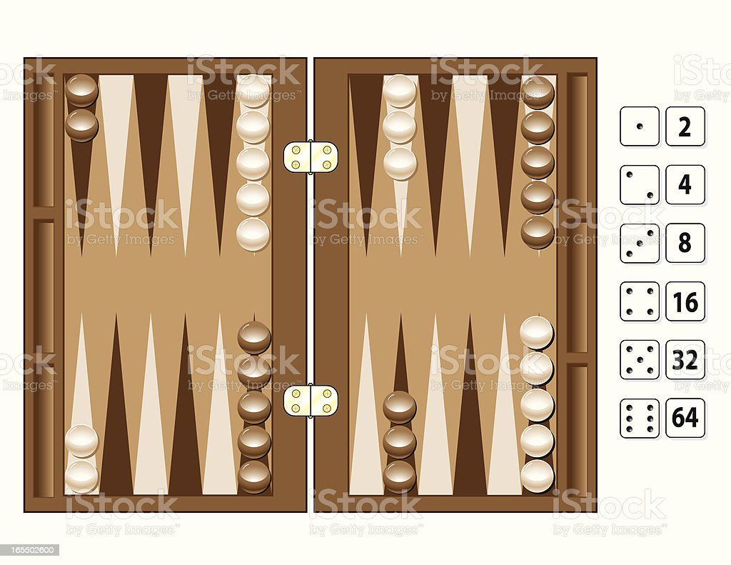 Game of Backgammon royalty-free stock vector art