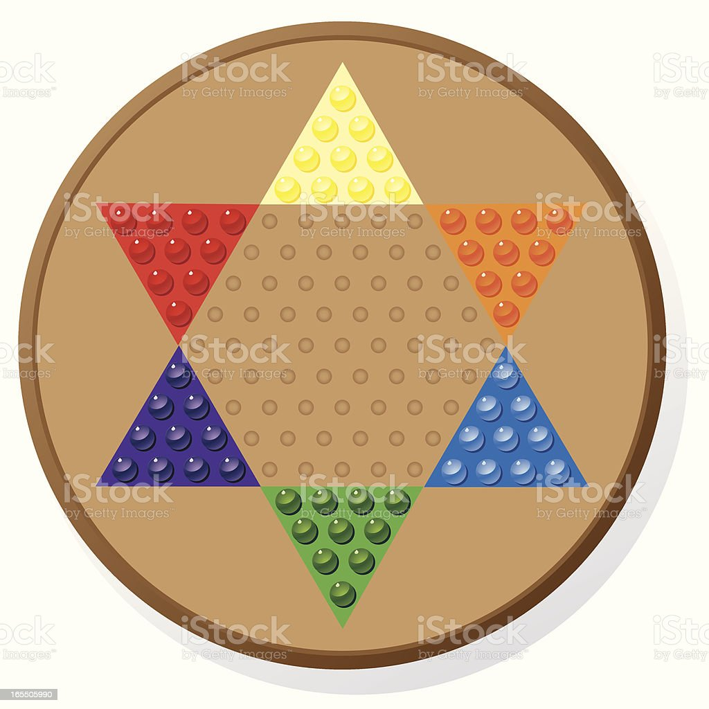 Game of Chinese Checkers royalty-free stock vector art