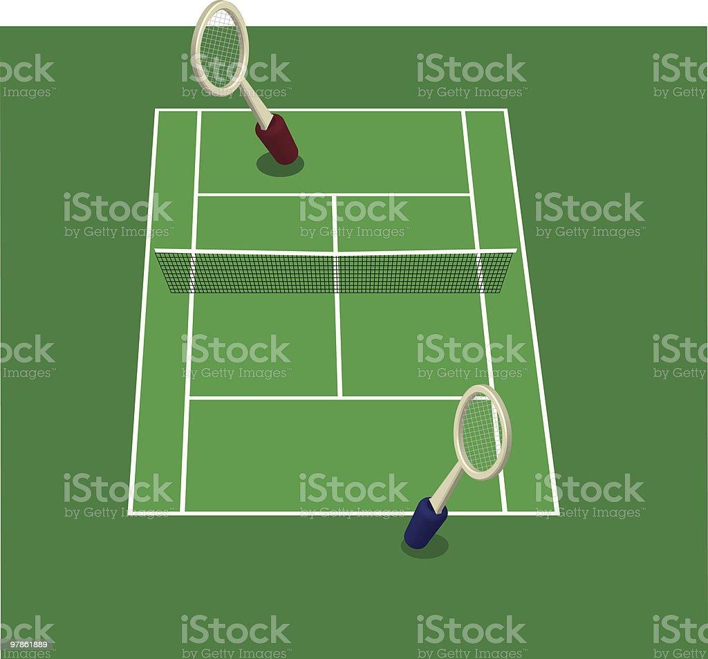 game of singles vector art illustration