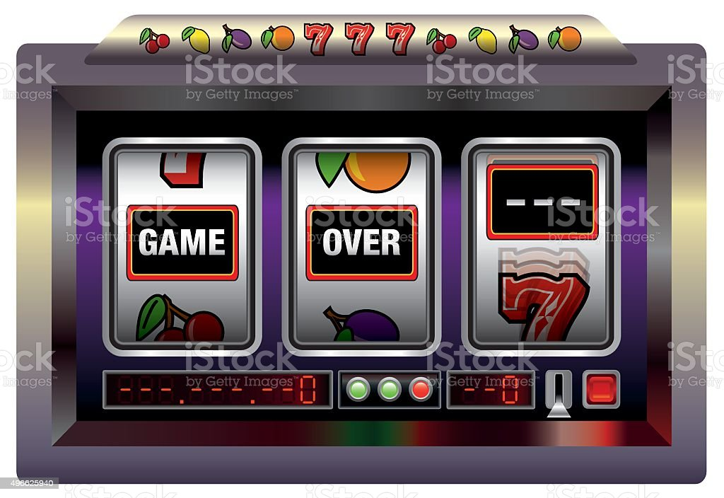 Game Over Gaming Machine vector art illustration