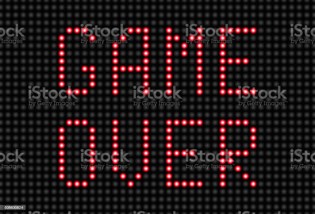 Game Over Message vector art illustration