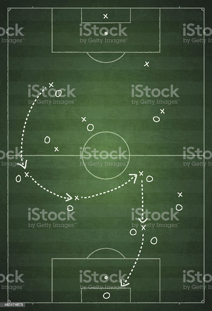 Game Plan - Concept of coordination vector art illustration