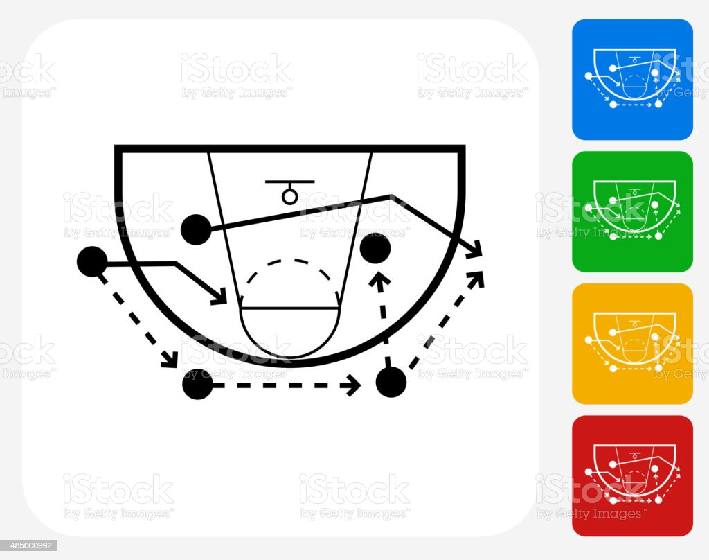 Game Plan Icon Flat Graphic Design vector art illustration