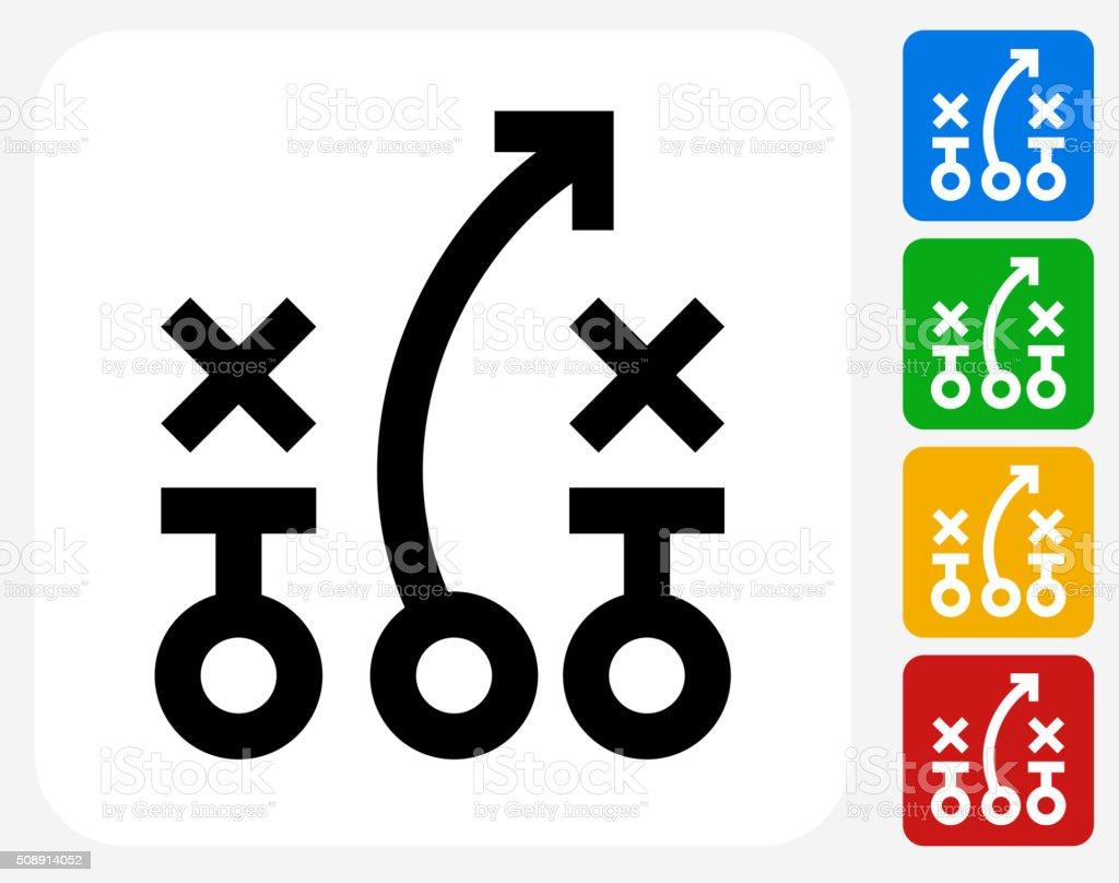 Game plan Icon Flat Graphic Design vector art illustration