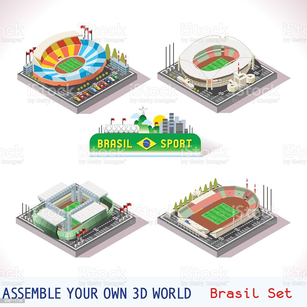 Game Set 12 Building Isometric vector art illustration
