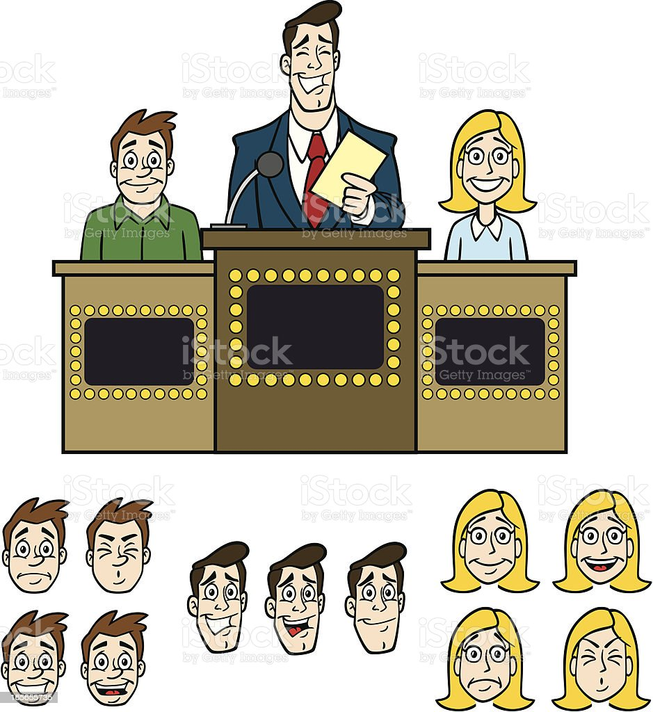 Game Show Elements royalty-free stock vector art