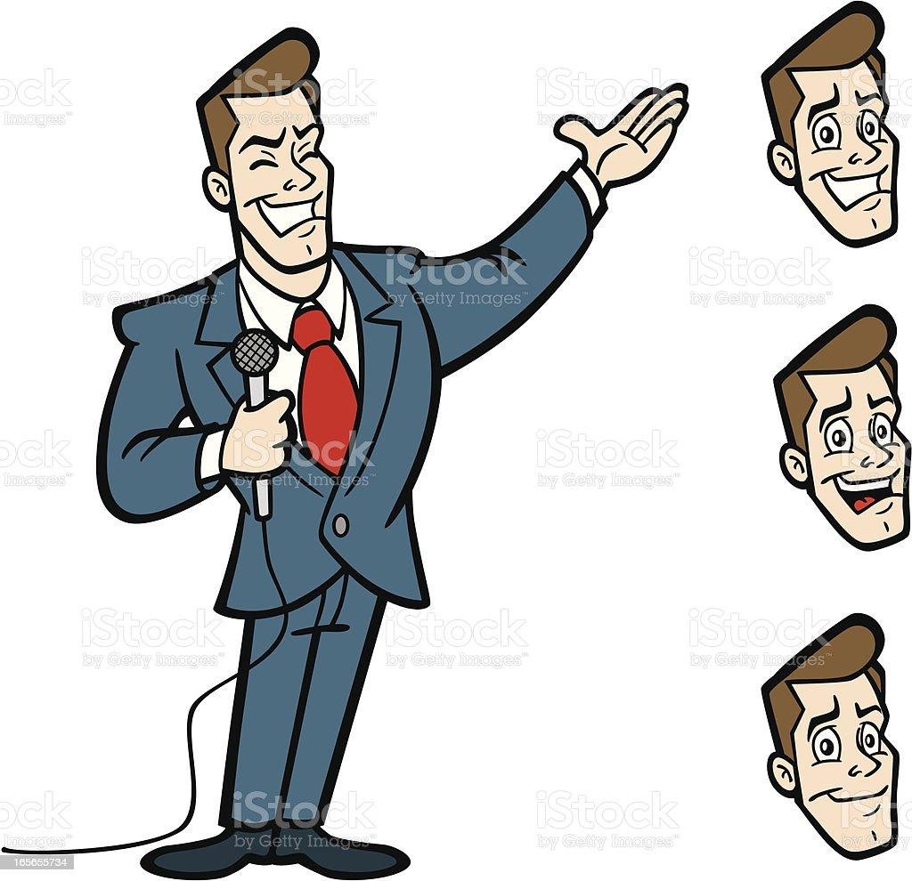 Game Show Guy vector art illustration