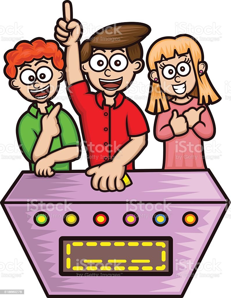 Game Shows Contestants Cartoon vector art illustration