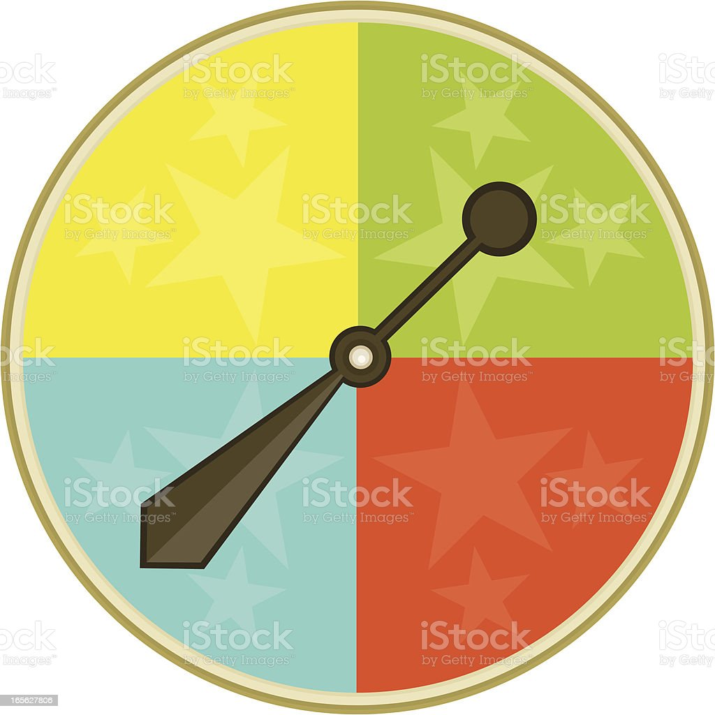 Game Spinner royalty-free stock vector art