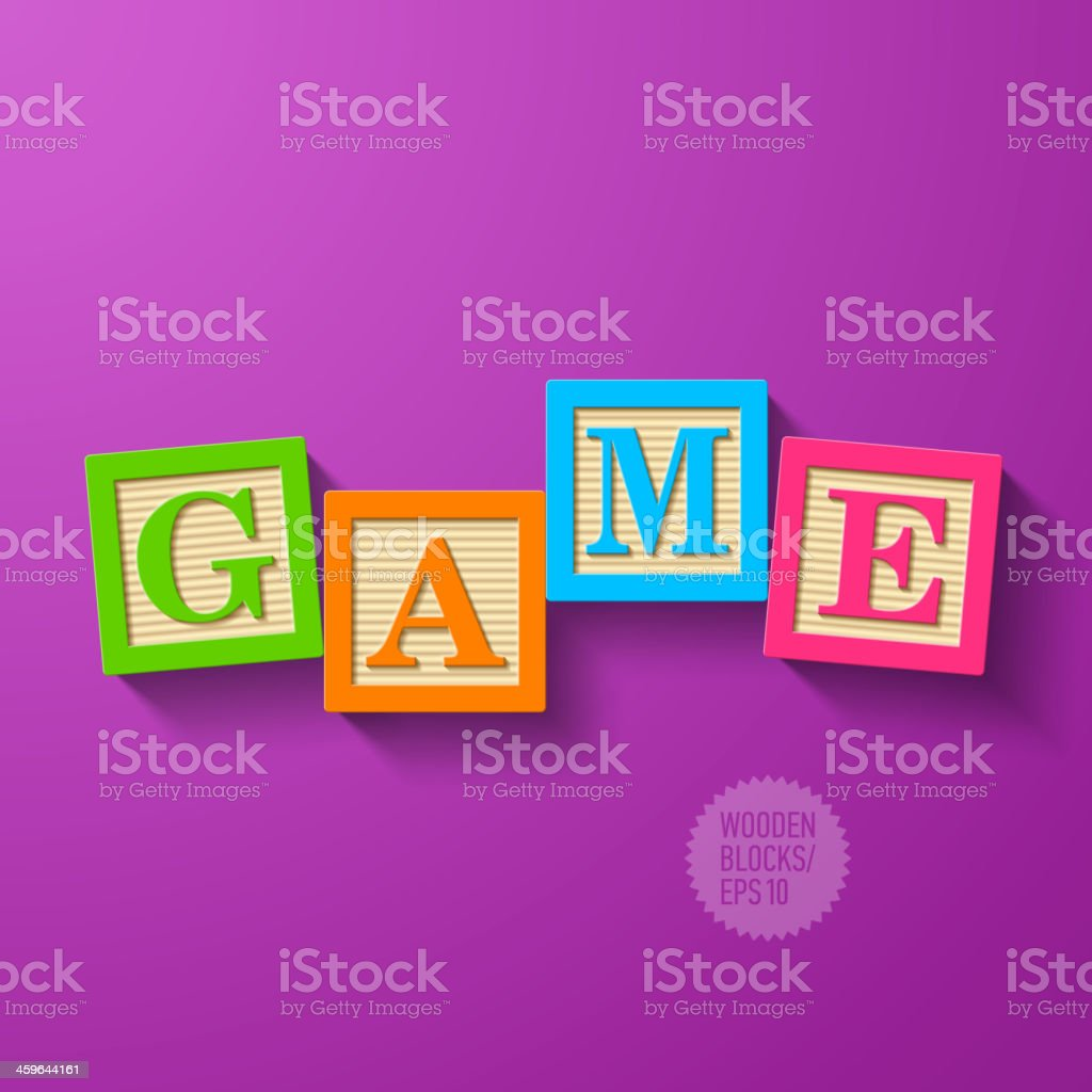 Game - wooden blocks royalty-free stock vector art