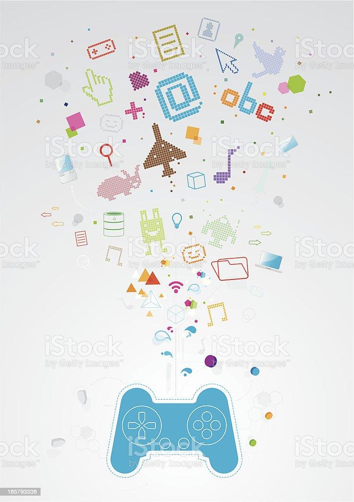Game world royalty-free stock vector art