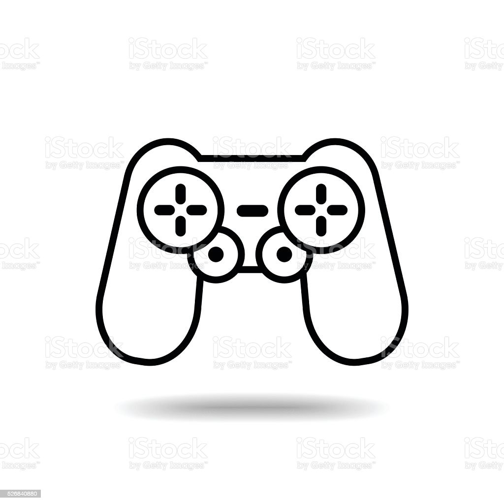 Gamepad flat icon isolate on white background vector art illustration