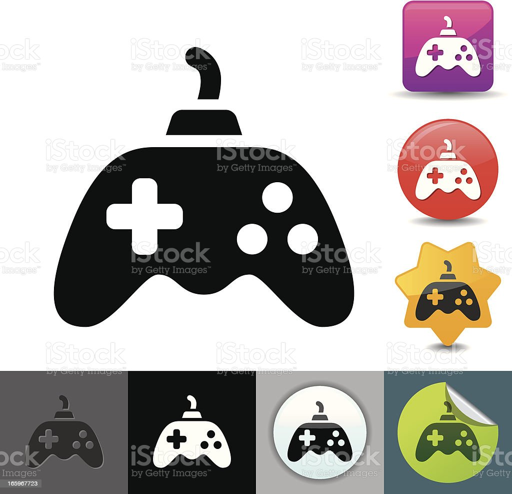 Gamepad icon | solicosi series royalty-free stock vector art
