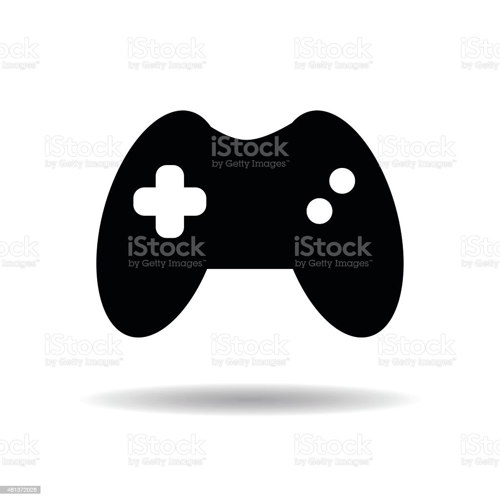 Gamepad icon vector illustration eps10 on white background vector art illustration