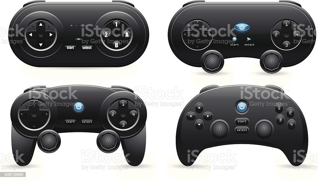 Gamepad Set vector art illustration