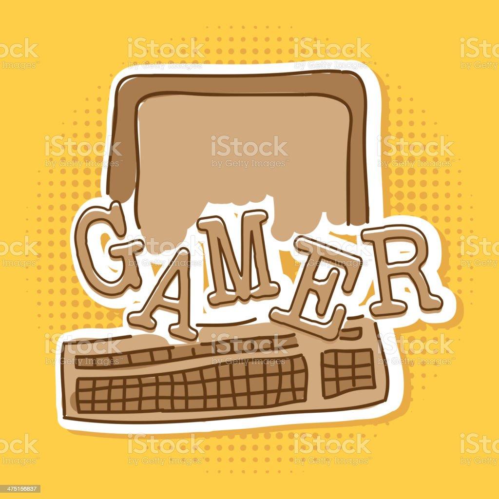 Gamer royalty-free stock vector art