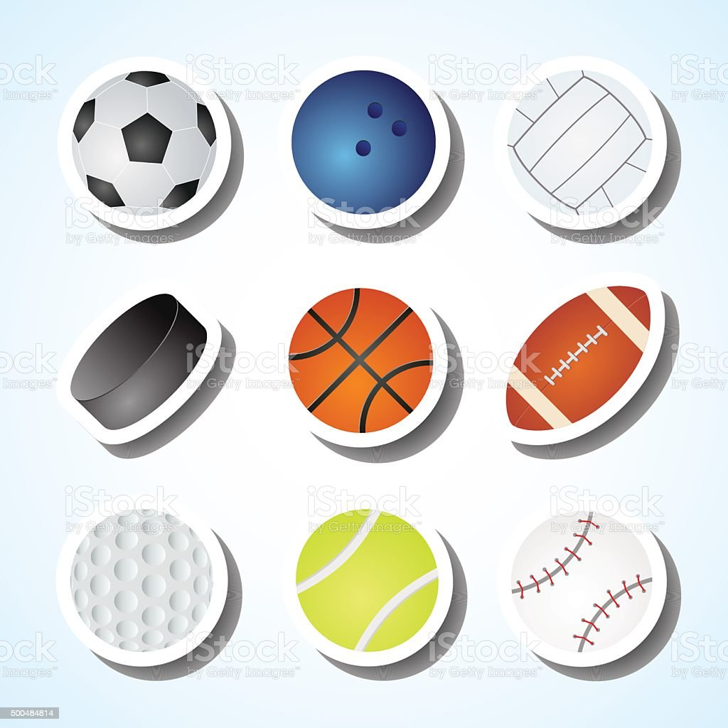 Games ball vector art illustration