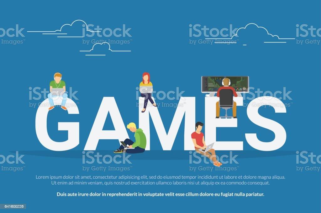 Games concept illustration vector art illustration