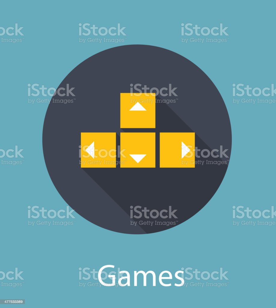 Games Flat Concept Icon Vector Illustration royalty-free stock vector art