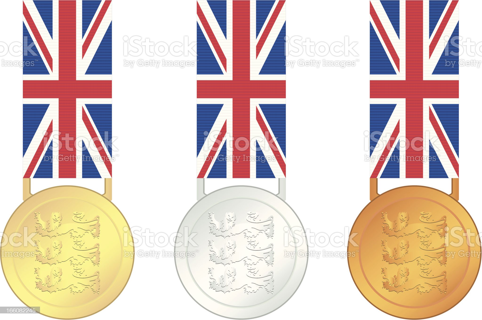UK Olympic Games Gold royalty-free stock vector art