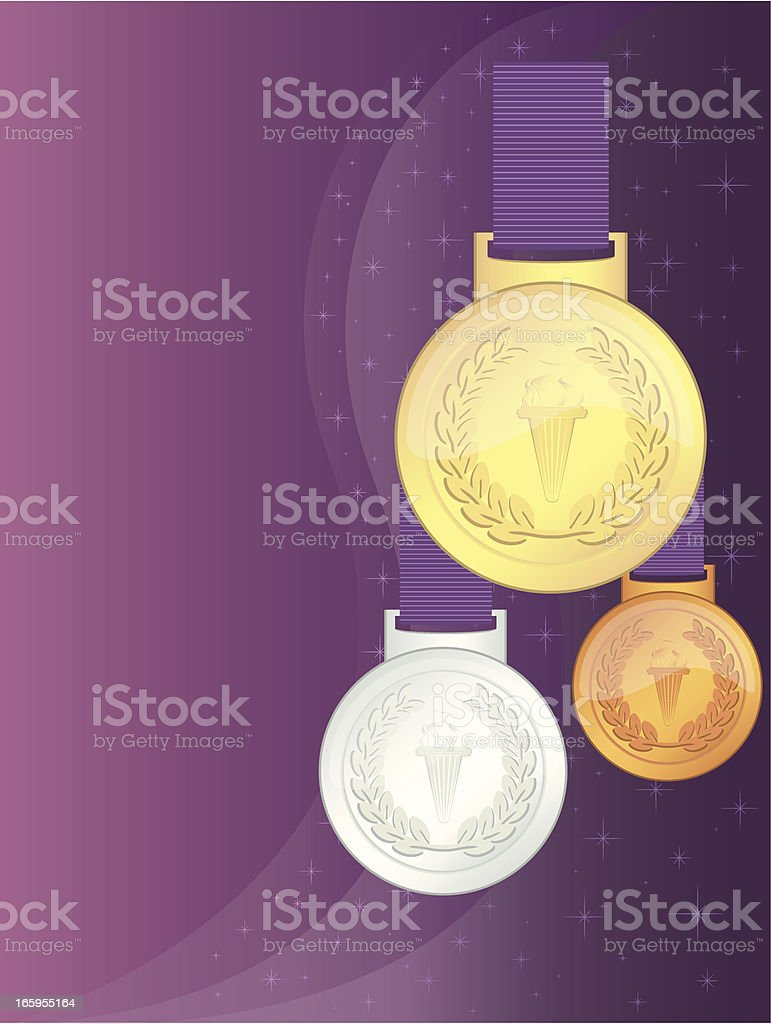 UK Olympic Games Winners' Medals vector art illustration