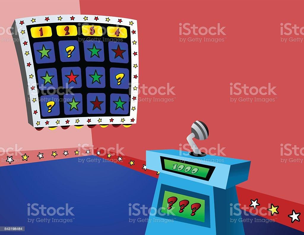 Gameshow_Set vector art illustration