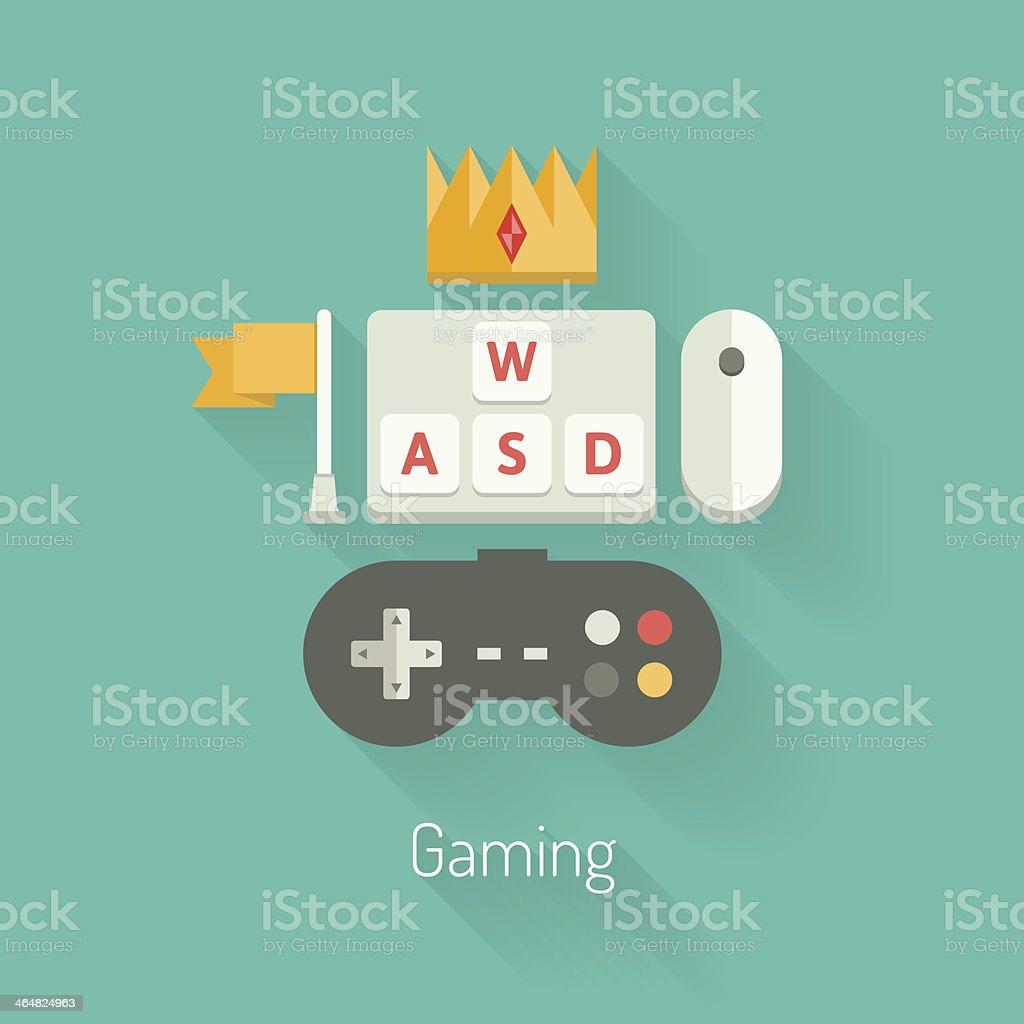 Gaming concept flat illustration royalty-free stock vector art