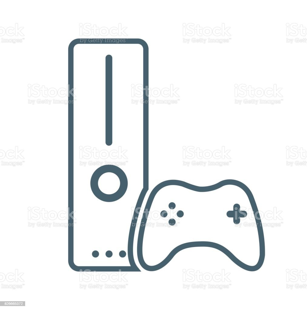 Gaming Console Flat Icon Isolated on White Background.vector illustration icon vector art illustration