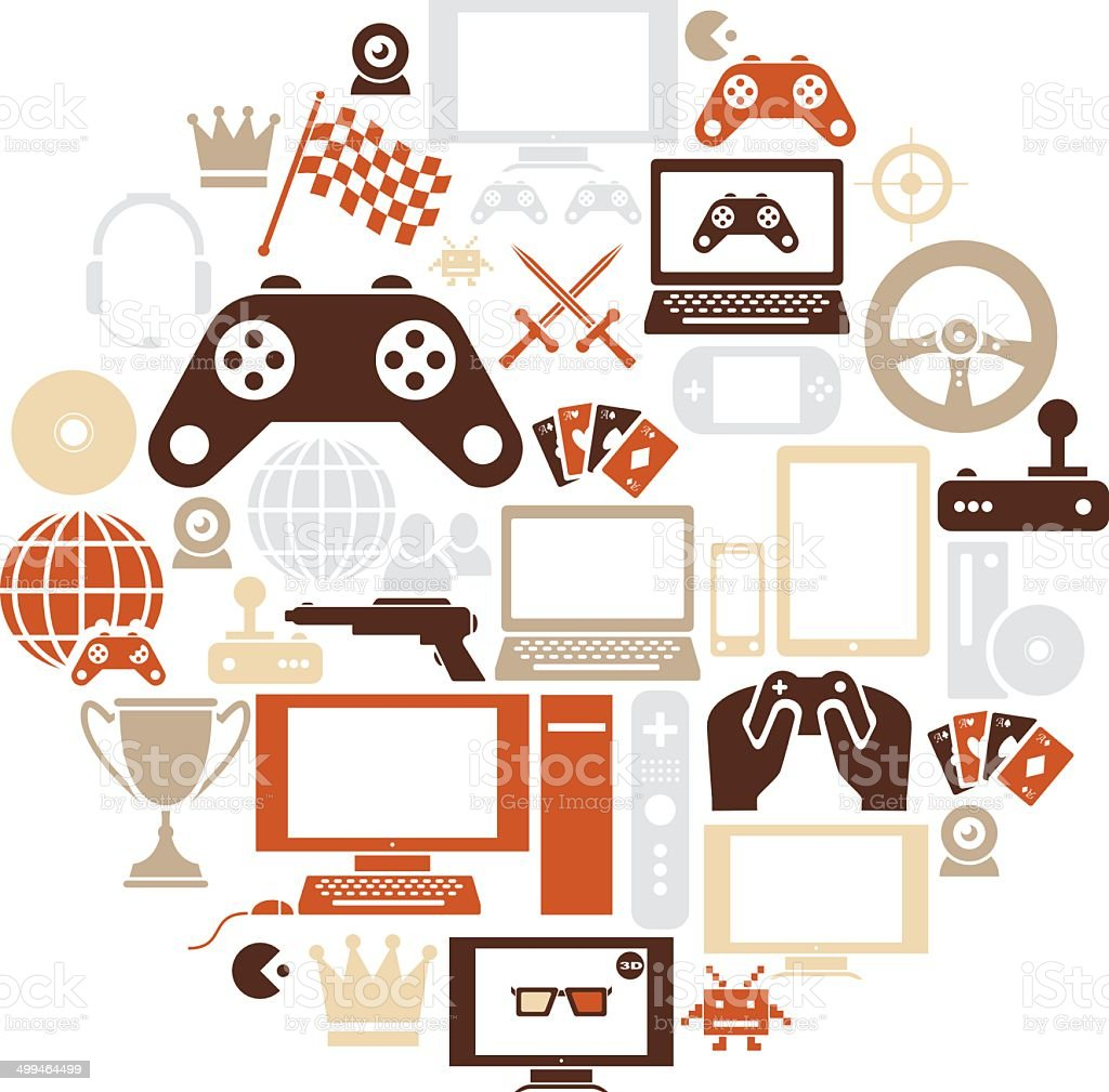 Gaming Icon Set royalty-free stock vector art