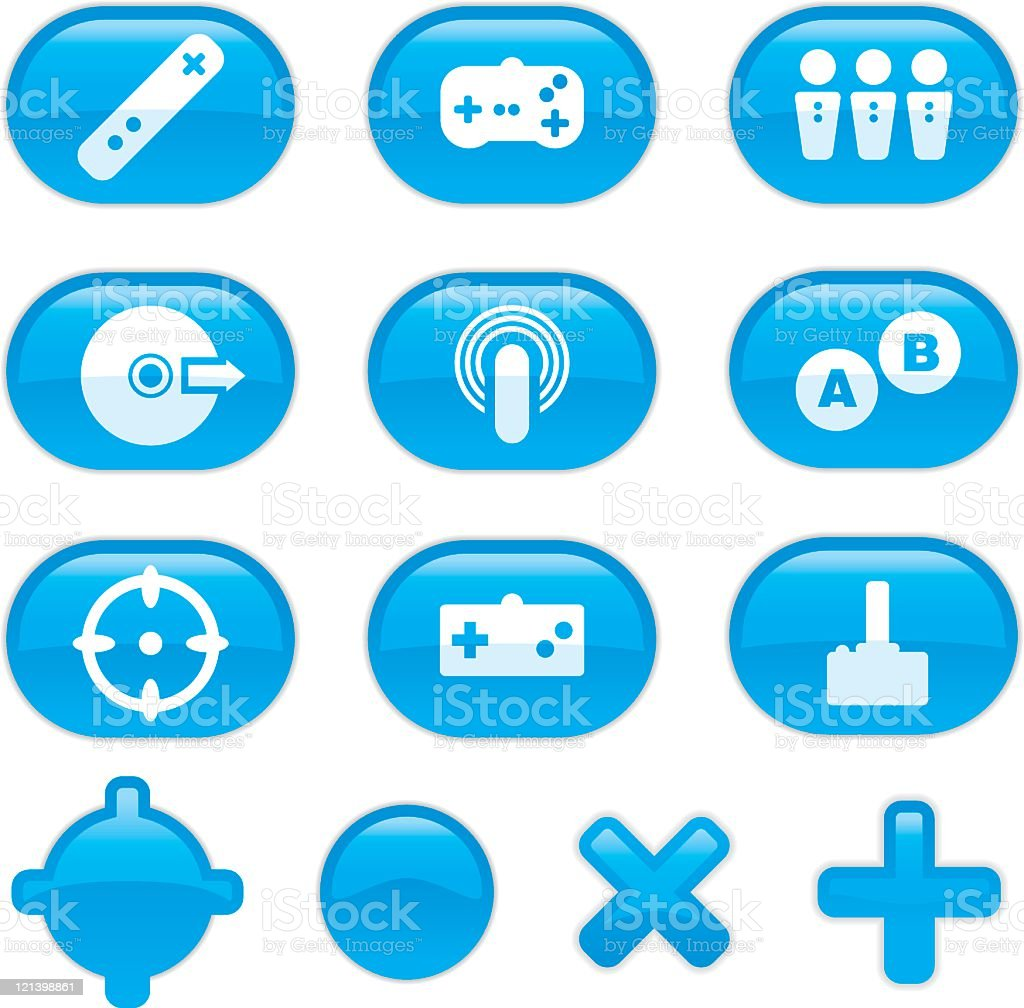 Gaming Icons vector art illustration